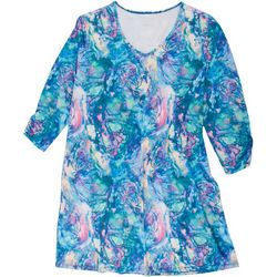 Reel Legends Plus Keep It Cool Abalone Print Dress