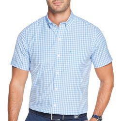 IZOD Mens Breeze Checkered Button Down Short Sleeve Shirt