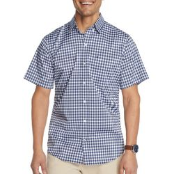 IZOD Mens Advantage Two Tone Plaid Button Down Shirt