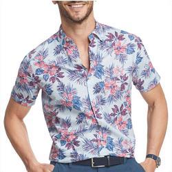 Mens Saltwater Dockside Hawaiian Short Sleeve Shirt