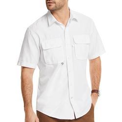 Mens Saltwater Solid Beach Ready Short Sleeve Shirt