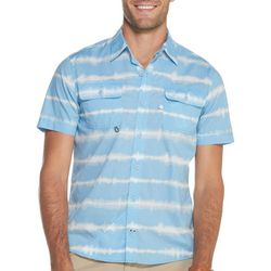 IZOD Mens Saltwater Tie Dye Beach Short Sleeve Shirt
