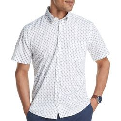 IZOD Mens Advantage Cocktail Print Short Sleeve Shirt