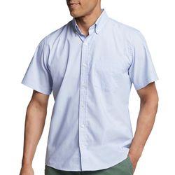 IZOD Mens Advantage Solid Short Sleeve Shirt