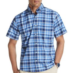 IZOD Mens Advantage Large Plaid Performance Shirt