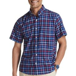 IZOD Mens Advantage Colorful Tattersal Short Sleeve Shirt
