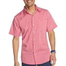 IZOD Mens Advantage Palm Print Short Sleeve Shirt