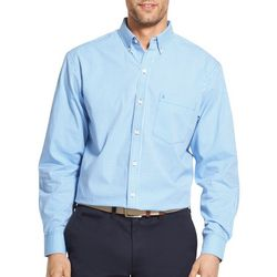 IZOD Mens Gingham Button Up Long Sleeve Shirt