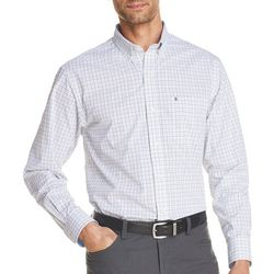 IZOD Mens Tatter Plaid Yarn Dyed Long Sleeve Shirt