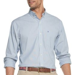IZOD Mens Premium Essentials Pinstripe Button Down Shirt