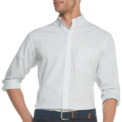IZOD Mens Premium Essentials Tatter Plaid Button Down Shirt