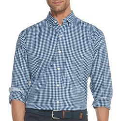 IZOD Mens Premium Essentials Gingham Button Down Shirt