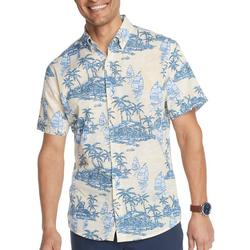 Mens Saltwater Palm Island Short Sleeve Shirt