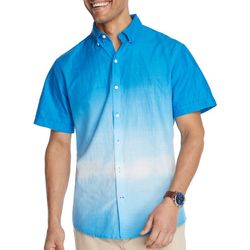 IZOD Mens Saltwater Dip Dye Short Sleeve Shirt