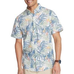 IZOD Mens Saltwater Bird Of Paradise Short Sleeve Shirt