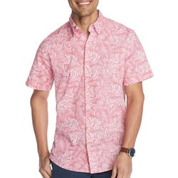 IZOD Mens Advantage Tonal Leaf Short Sleeve Shirt