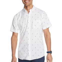 IZOD Mens Advantage Hula Print Short Sleeve Shirt