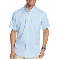 IZOD Mens Advantage Sailboat Print Short Sleeve Shirt