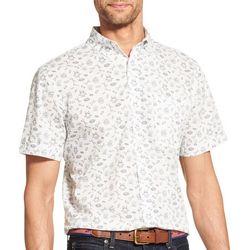 IZOD Mens Camping Woven Button Down Short Sleeve Shirt