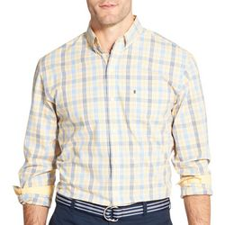 IZOD Mens Glenn Plaid Button Down Long Sleeve Shirt