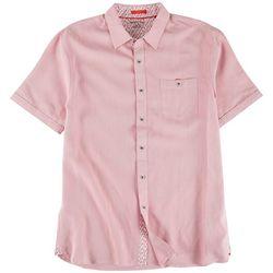 Marti Kat Mens Polynosic Solid Casual Shirt
