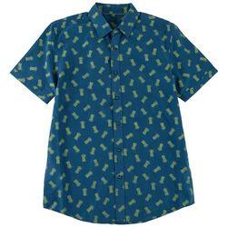 Marti Kat Mens All Over Pineapple Print Casual Shirt