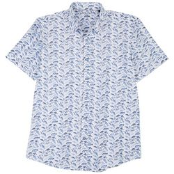 Marti Kat Mens All Over Fish Print Casual Shirt