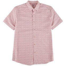 Marti Kat Mens Micro Flamingo All Over Print Casual Shirt