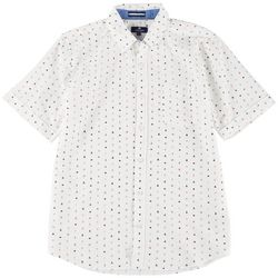 Sperry Mens Boat Print Woven Short Sleeve Shirt