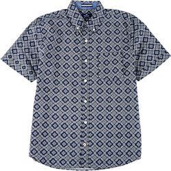 Sperry Mens Geometric Print Woven Short Sleeve Shirt