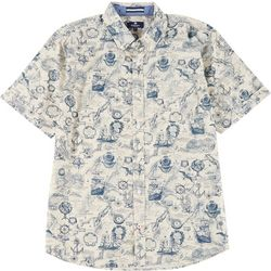 Sperry Mens Map Woven Short Sleeve Shirt