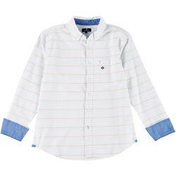 Sperry Mens Striped Long Sleeve Button Down Shirt