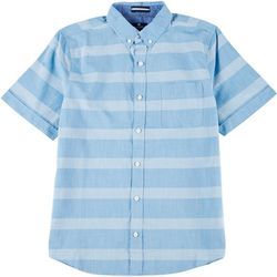Sperry Mens Stripe Yarn Dye Short Sleeve Shirt