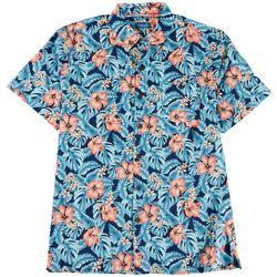 Caribbean Joe Mens Flower Garden Button Down Shirt