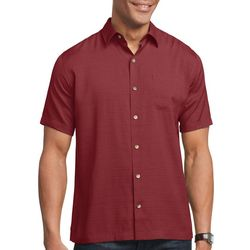 Van Heusen Mens Sandwashed Button Down Camp Shirt