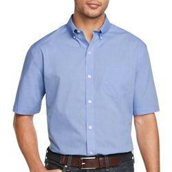 Van Heusen Mens Solid Woven Button Down Shirt