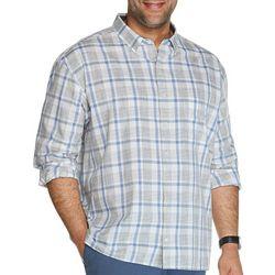 Mens Big & Tall Never Tuck Slim Fit Plaid Shirt