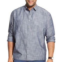 Van Heusen Mens Big & Tall Never Tuck Scratchy Print Shirt