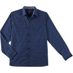 Van Heusen Mens Never Tuck Slim Fit Lily Floral Shirt