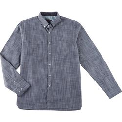 Van Heusen Mens Never Tuck Slim Fit Heathered Shirt
