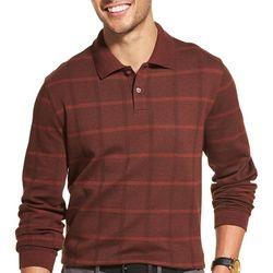 Van Heusen Mens Flex Windowpane Polo Shirt