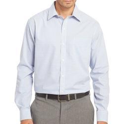 Mens Long Sleeve Plaid Traveler Shirt