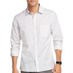 Van Heusen Mens Never Tuck Circle Print Shirt