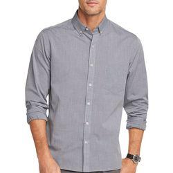 Van Heusen Mens Never Tuck Diamond Print Shirt