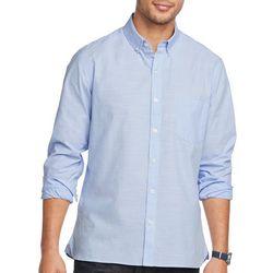 Van Heusen Mens Never Tuck Space Dyed Print Shirt