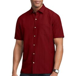 Van Heusen Mens Stripe Texture Button Down Camp Shirt