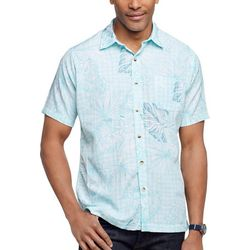 Van Heusen Mens Palm Leaf Print Button Down Shirt
