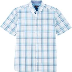 Van Heusen Mens Never Tuck Plaid Printed Button Down Shirt