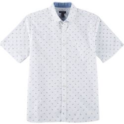 Van Heusen Mens Never Tuck Paper Plane Button Down Shirt