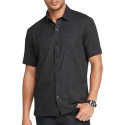 Van Heusen Mens Never Tuck Solid Button Down Shirt